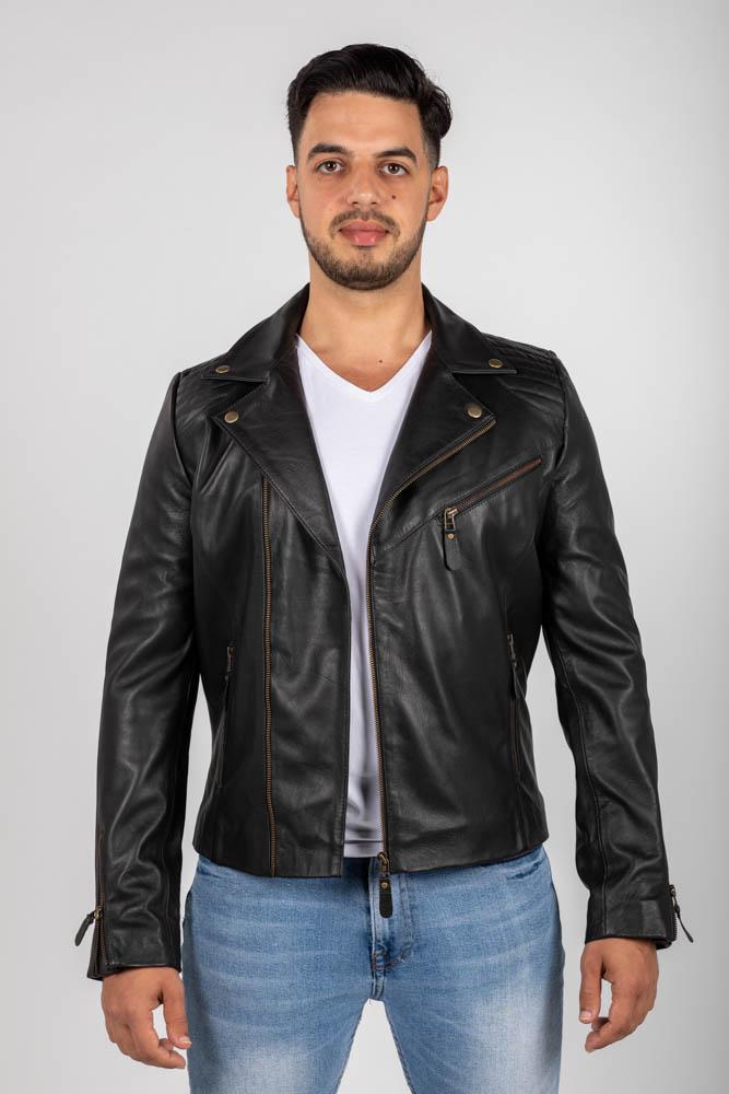 Zoef leather david leren jas