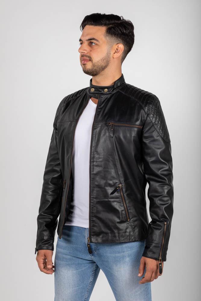 Zoef leather dennis leren jas-2