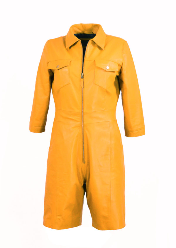 Zoef Leather Jumpsuit Mia Yellow 1