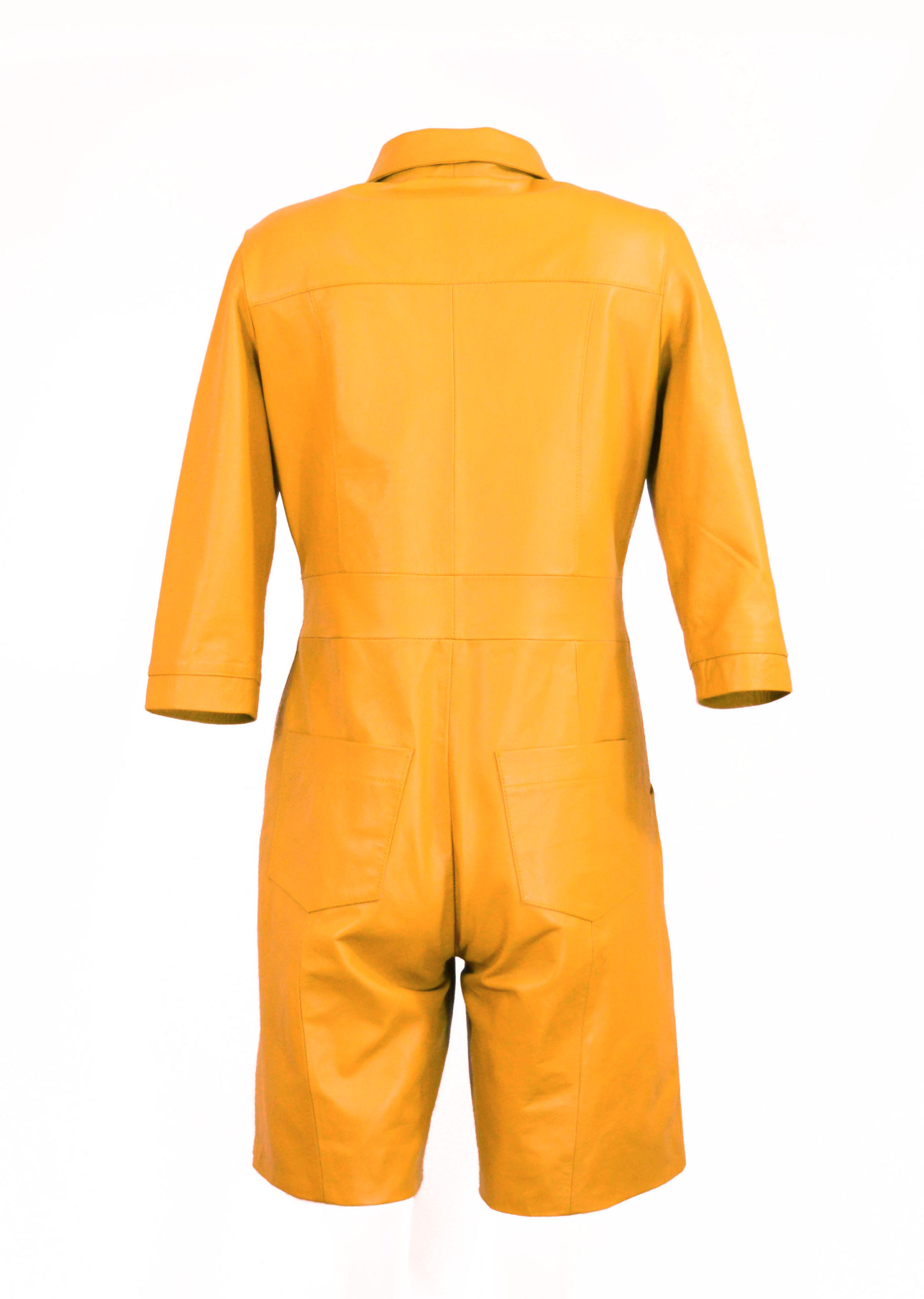 Zoef Leather Jumpsuit Mia Yellow 2