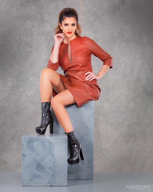 Zoef Leather Jurk Jennifer Terracotta 4