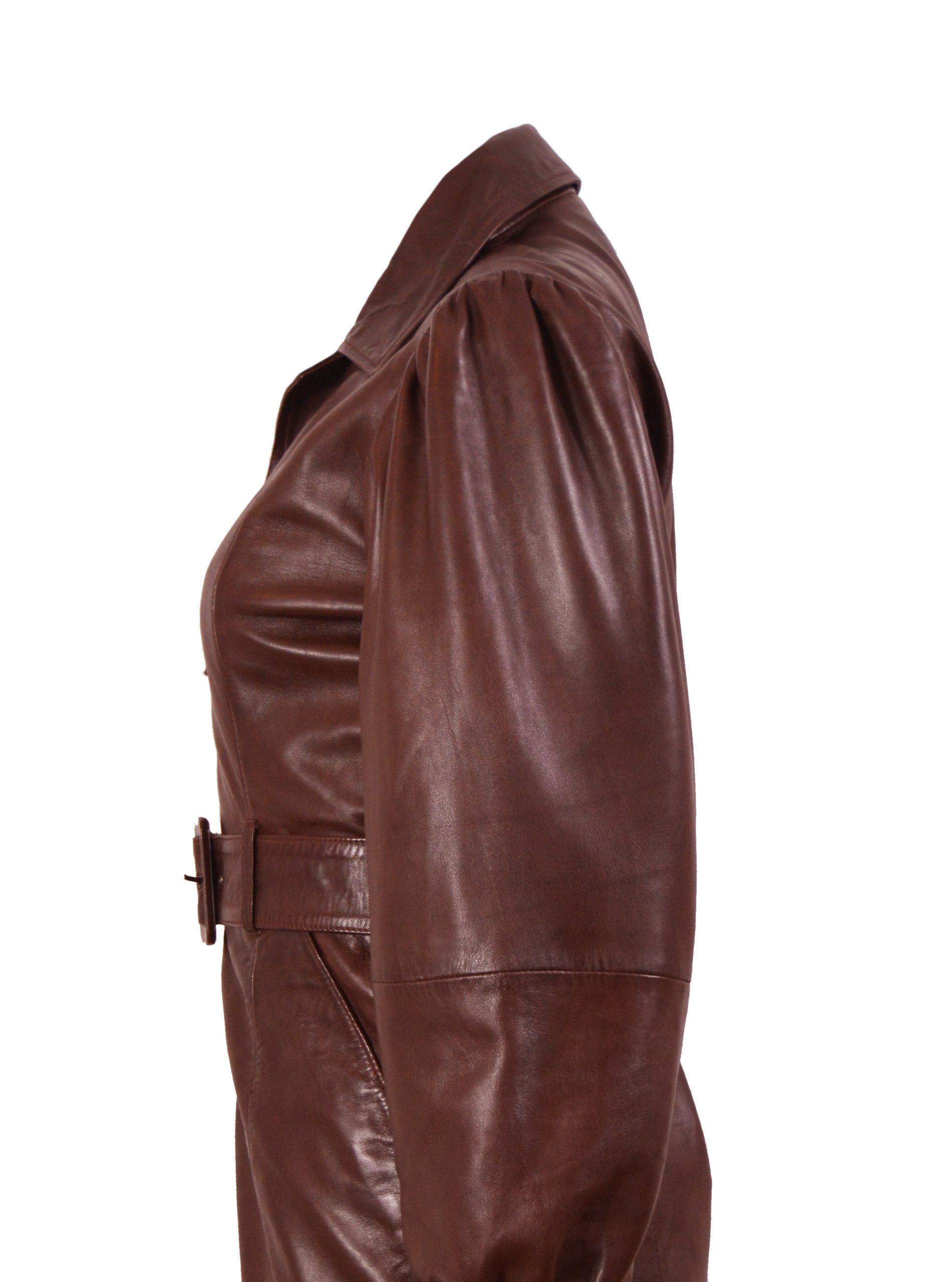 Zoef Leather Jurk Monica Aubergine 3