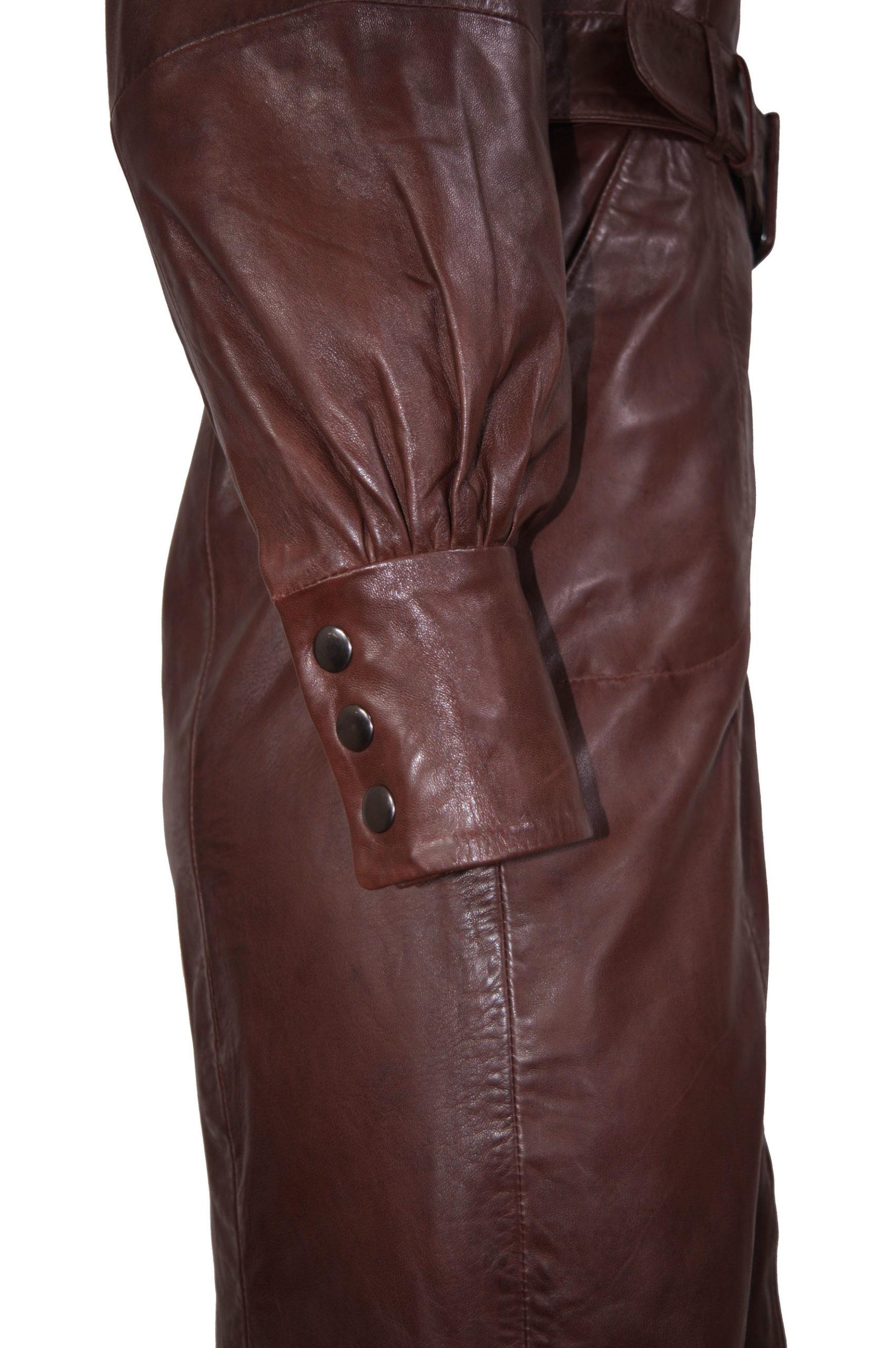 Zoef Leather Jurk Monica Aubergine 4