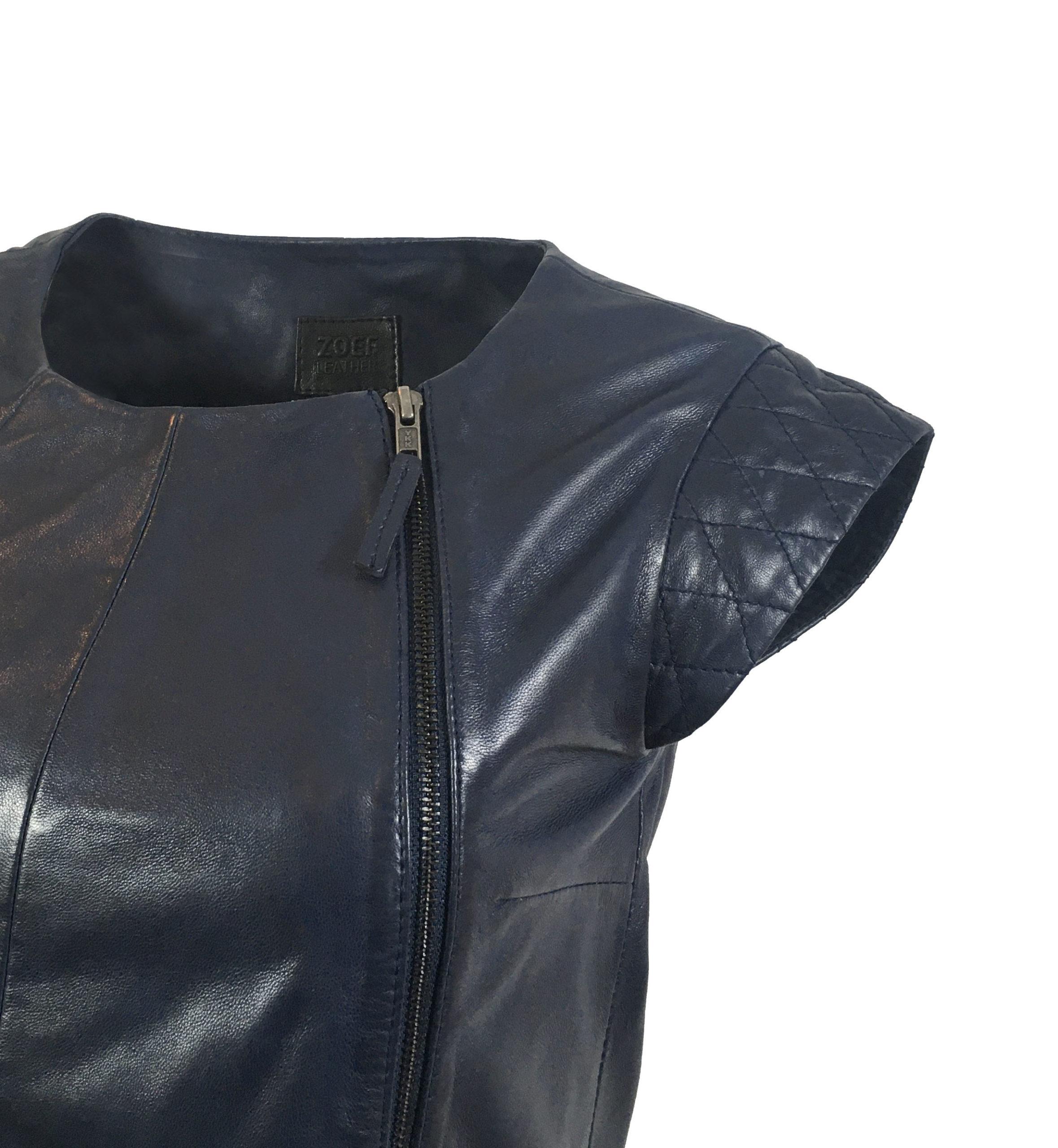 Zoef Leather Maddy Nachtblauw 3